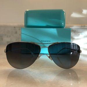 Tiffany Silver Aviator Sunglasses